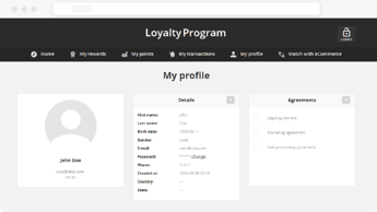 Open Loyalty 03 Account Details Screen