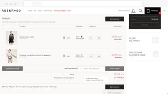 Reserved Shopping Cart Screen