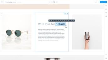 Shopware Shopping Experiences Text Edit