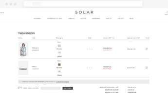 Solar Shopping Cart Screen