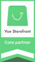 vue storefront core partner badge