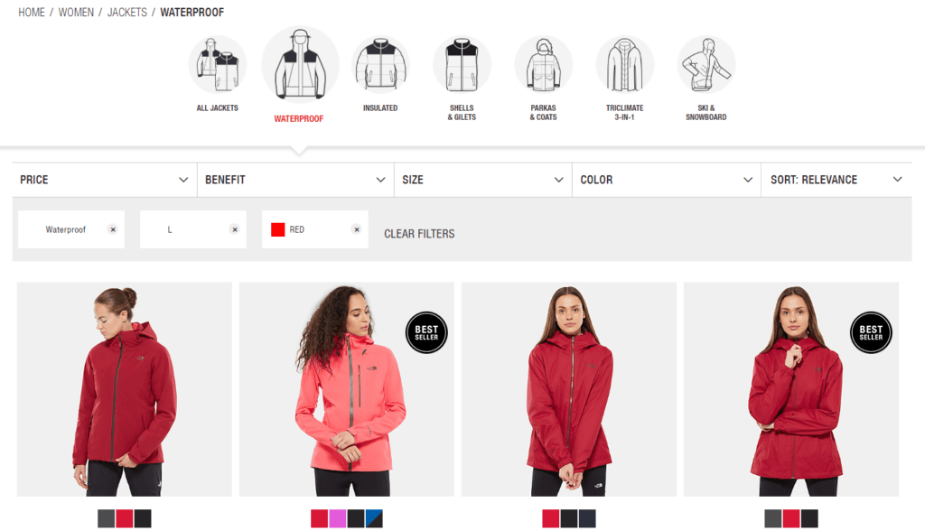 The North Face's eCommerce Configurator