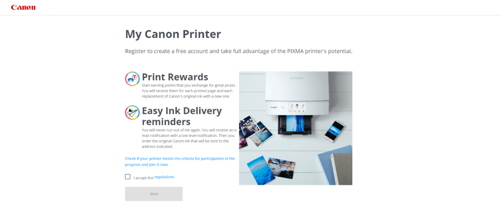 eCommerce loyalty program - Canon