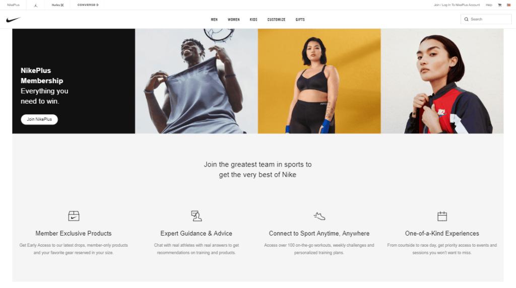 eCommerce loyalty program - Nike
