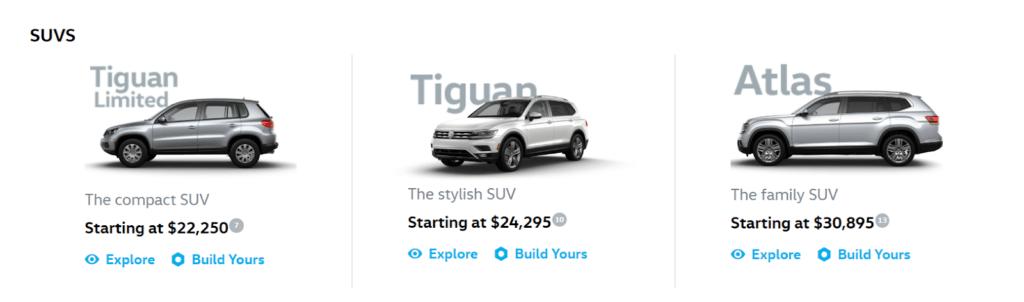 Volkswagen's eCommerce Configurator