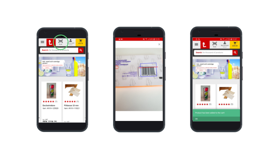 Barcode scanning is another example of native phone features that can improve the shopping experience