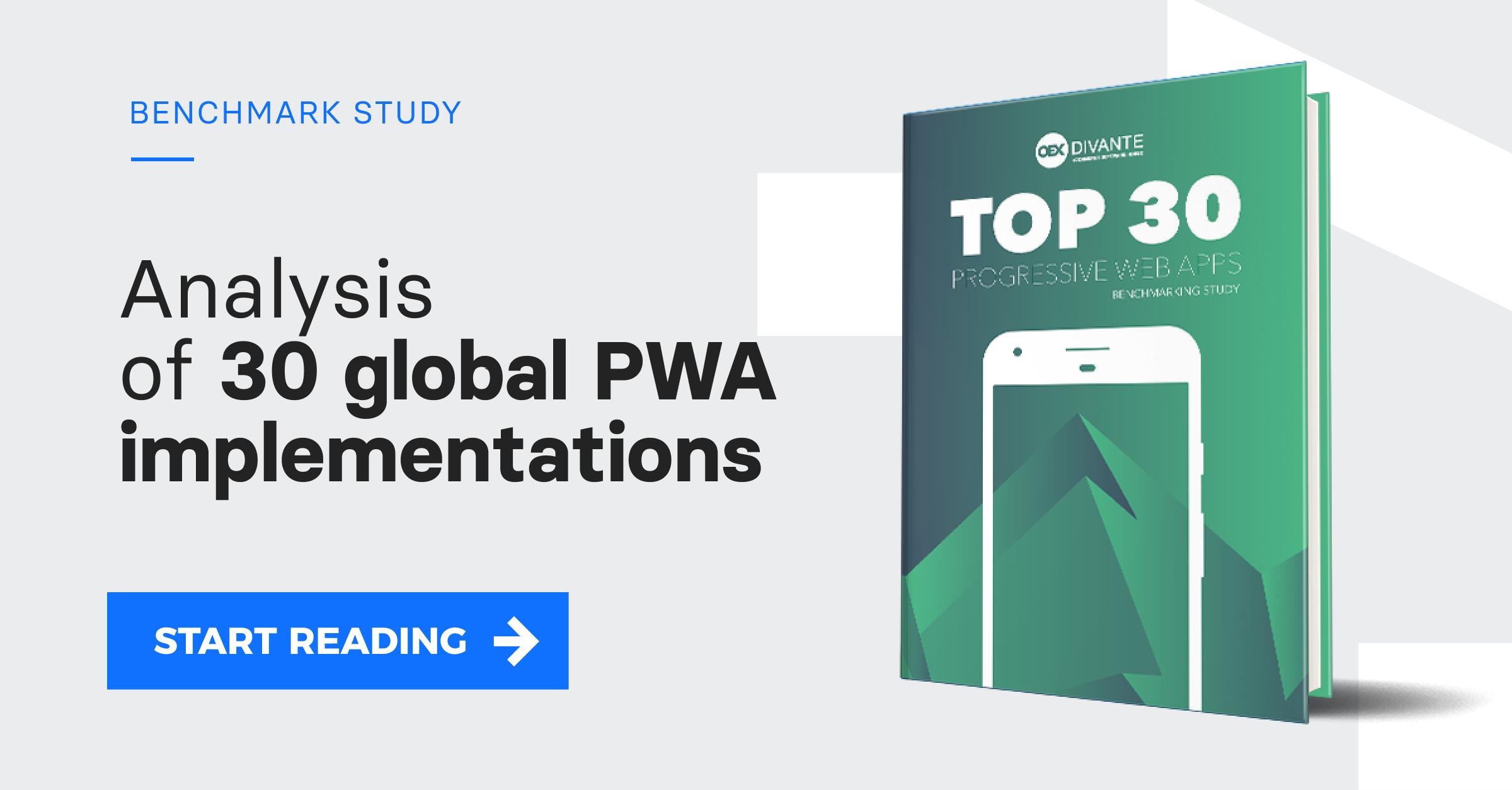 TOP 30 PWAs - Download FREE Benchmarking Study