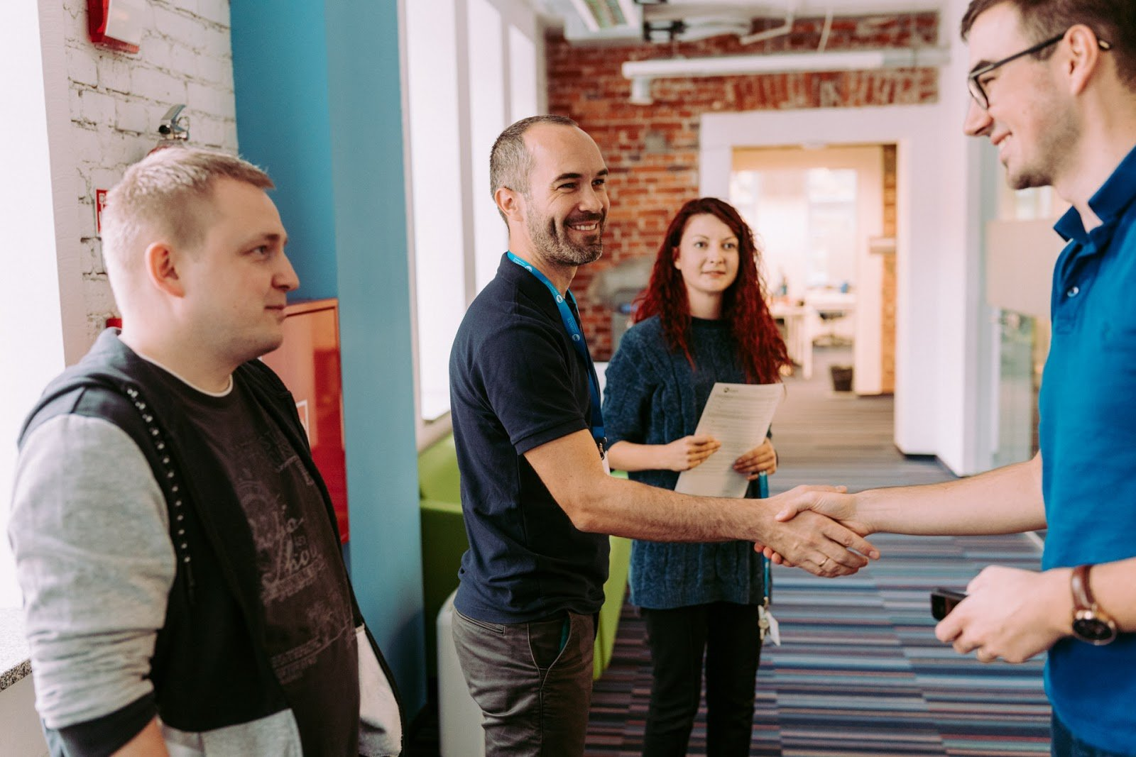 A short tour around the office is when new hires can get to know the office and meet people working there