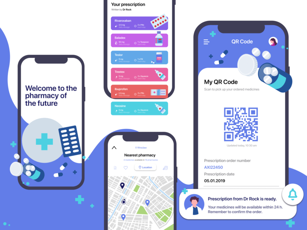 Pharmacy of the future concept dribbble