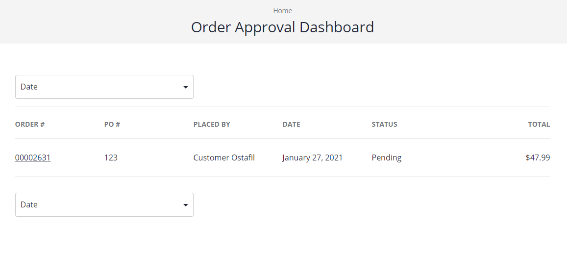 Order approval