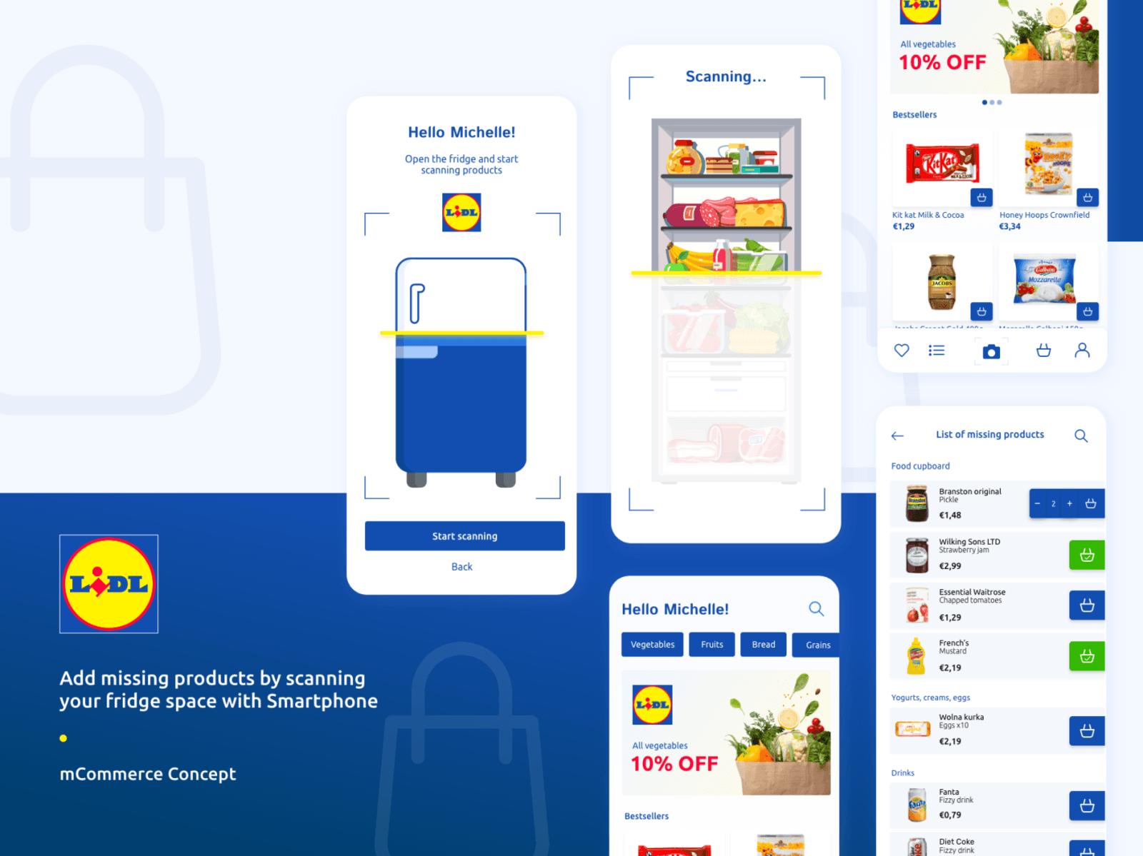 Mobile App concept with AI use for Lidl - mCommerce concept   Divante