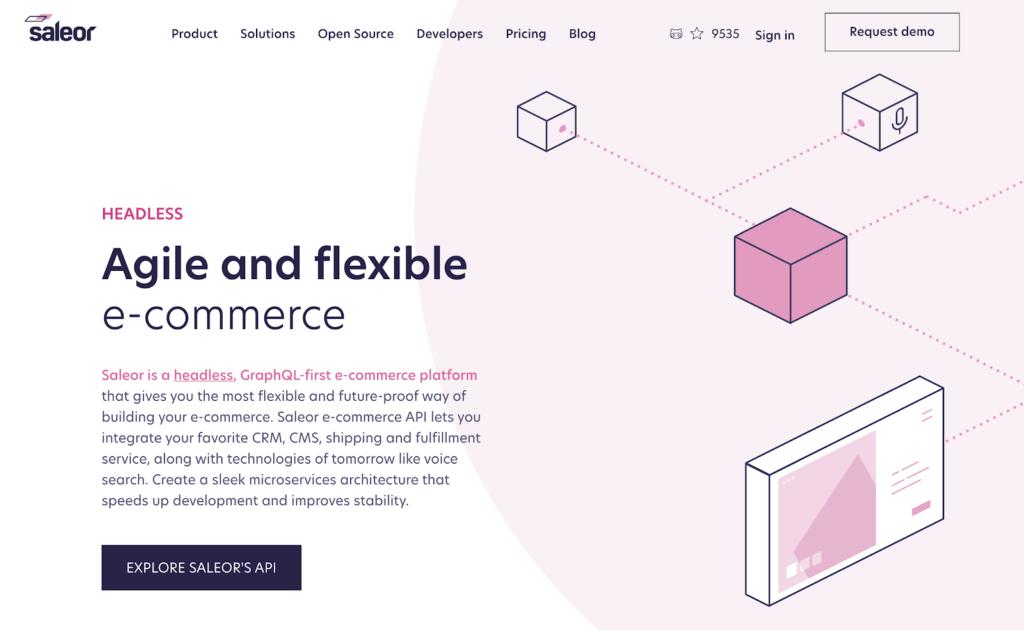Saleor commerce website