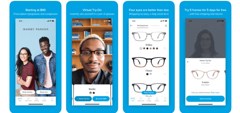 Michael Kors: virtual try-on of sunglasses on Facebook